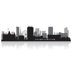 Birmingham city skyline silhouette vector