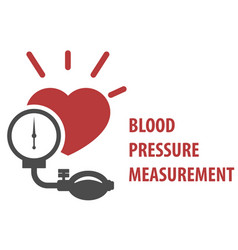 Blood pressure measurement icon - sphygmomanometer vector