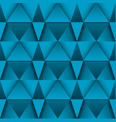 Blue 3d geometric pattern abstract seamless vector
