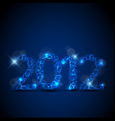 blue new year card 2012 vector image