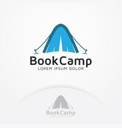 Book camp logo vector