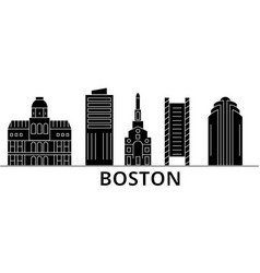 Boston architecture city skyline travel vector