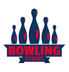 Bowling logo flat style vector