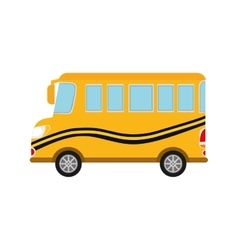 Bus yellow auto vehicle transportation icon vector