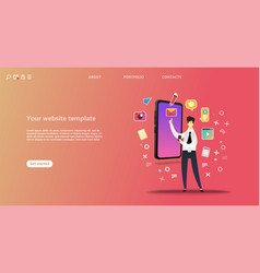 business landing page template vector image