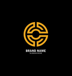 c logo icon design template elements vector image