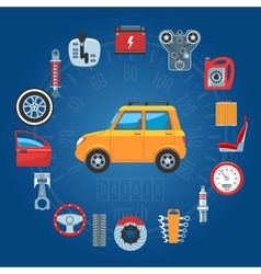 Car parts concept icons vector