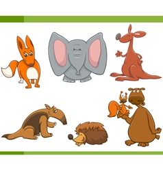 cartoon wild animals set vector image