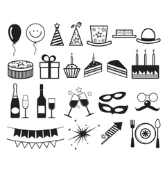 Celebration party icons vector image