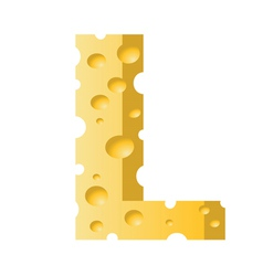 cheese letter L vector image