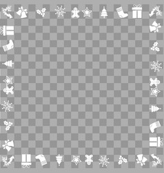 christmas square frame with ornaments vector image