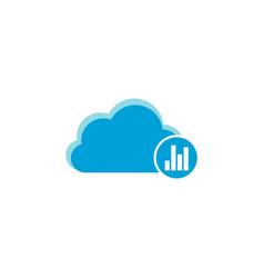 cloud computing icon graph chart icon vector image