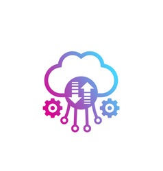 cloud storage and data transfer vector image