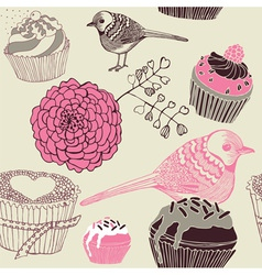 Cupcakes Decorative Pattern vector
