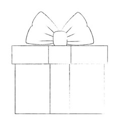 cute gift box vector image