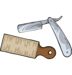cutthroat razor vector image