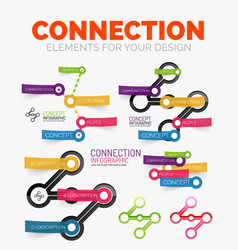 diagram elements set of connection concept vector image