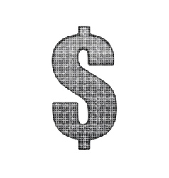 Dollar sign in the form of silver sequins Eps 10 vector