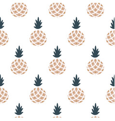 elegant pineapple fabric wallpaper seamless vector image