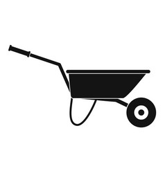 Farming wheelbarrow icon simple style vector