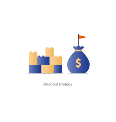 financial stability concept budgeting and vector image