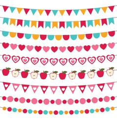Flags and decoration set vector