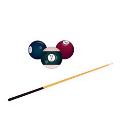 flat billiard snooker symbols set vector image