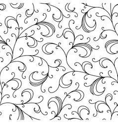 Floral oriental black isolated seamless background vector
