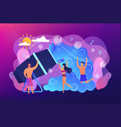 Foam party concept vector