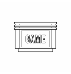 Games floppy disk icon outline style vector image