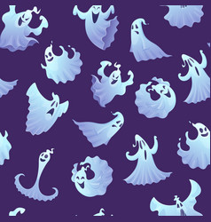 ghost pattern spooky poltergeist or little ghosts vector image