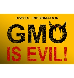 GMO is evil vector image
