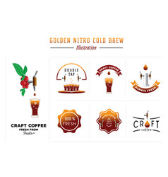 Golden nitro cold brew vector