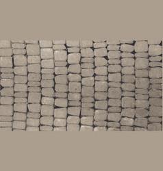 grey stone wall vector image