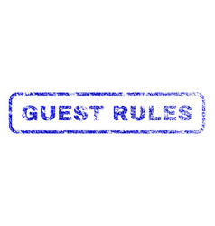 Guest rules rubber stamp vector