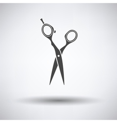 Hair scissors icon vector image