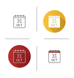 Halloween date icon vector