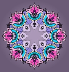 Hand-drawn lotus in east style in mandala vector