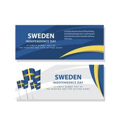 Happy sweden independence day celebration poster vector