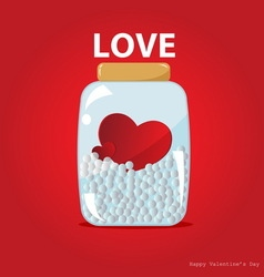 Hearts in the bottle vector image