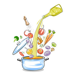 ingredient composition homemade healthy and vector image