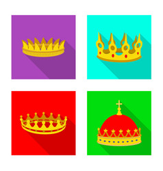Isolated object of medieval and nobility logo set vector