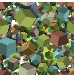 Isometric fall cubes seamles texture background vector