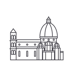 Italy temple florence cathedral line icon vector