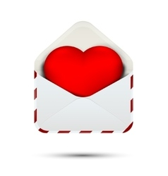 Love heart in the envelope vector image