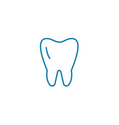 molar linear icon concept molar line sign vector image
