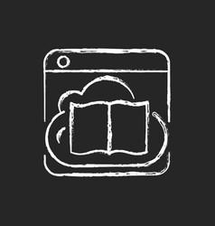 online library chalk white icon on dark background vector image