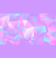 Pastel colorful crystal low poly backdrop design vector