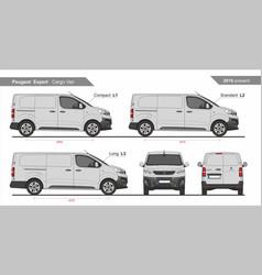 Peugeot expert cargo van l1 l2 l3 2016-present vector