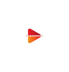 play button line colored logo vector image
